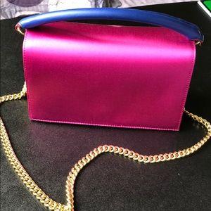 Diane Von Furstenberg Soirée Top Handle Satin Bag